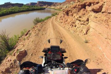 Riding White Rim Road in Canyonlands, Utah