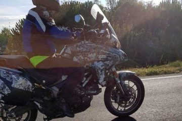 Spy shot of new Ducati Multistrada