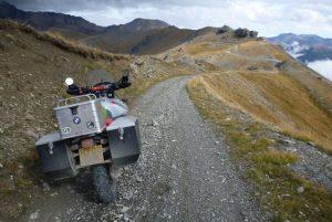 Off-road riding on Mount Jafferau