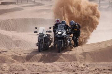 Riding sand dunes, Morocco