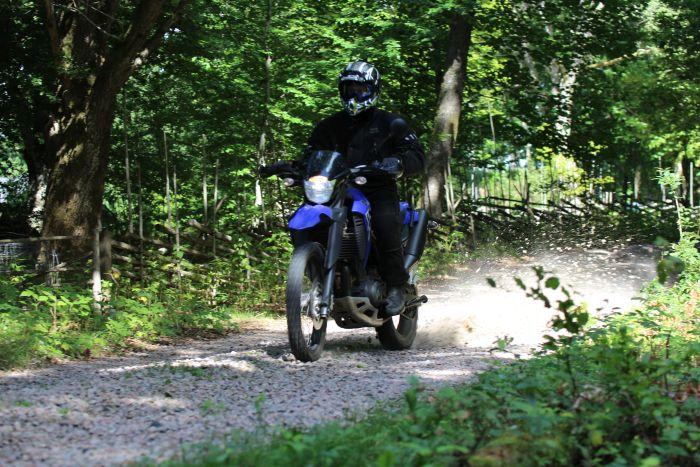 Riding gravel roads, Sweden