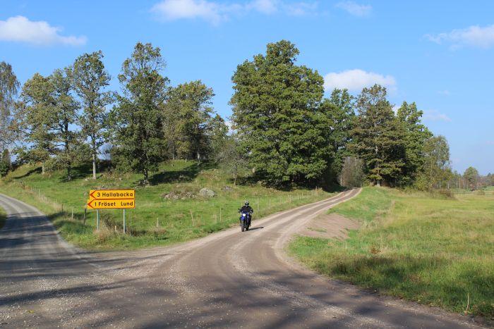 Riding Swedish roads