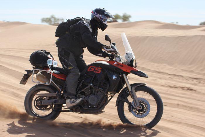 Riding sand, Morocco