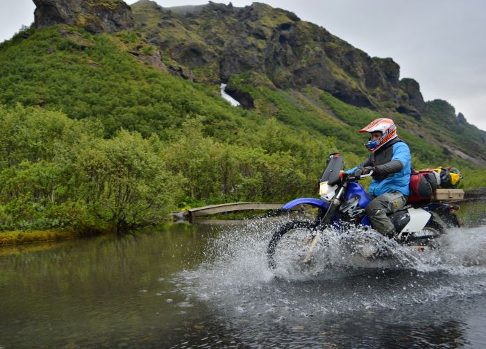 Adventure motorcycling in Iceland