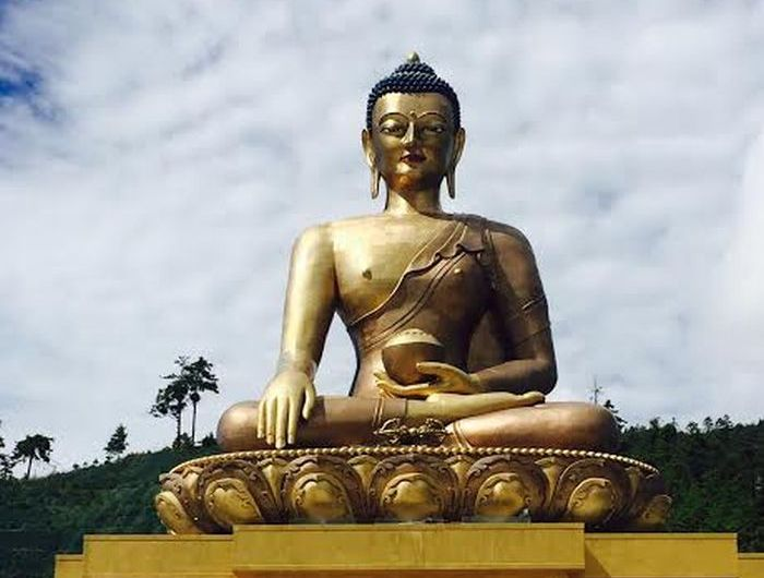 Bhuddist statue in Bhutan