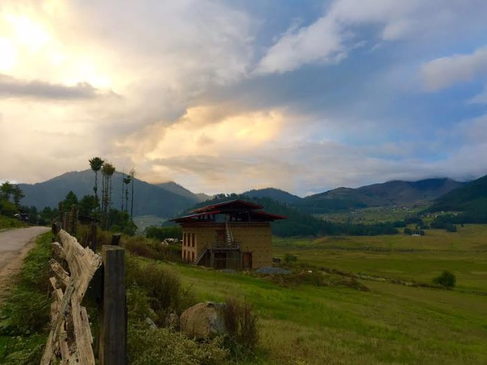 Beautiful Bhutan scenery