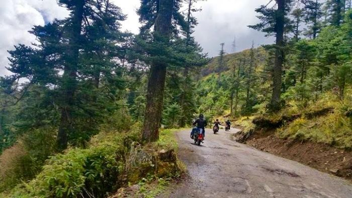 Empty roads in Bhutan