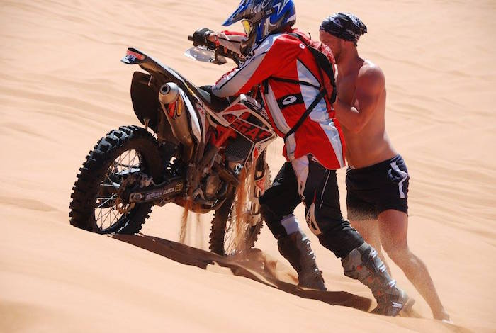 Riding in the Tuareg Rally