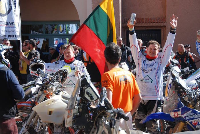 Racing teams in the Ruareg Rally in Morocco