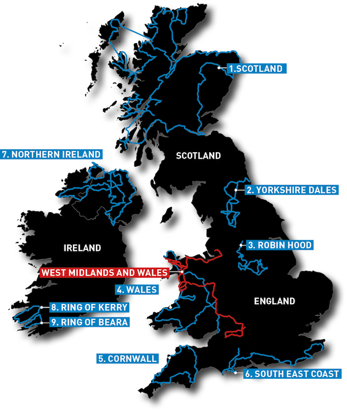 Motorcycle routes in the UK