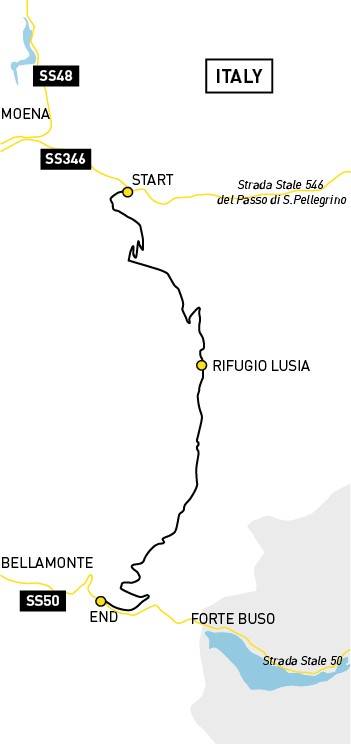 Lusia Pass route