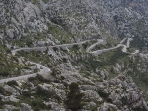 Hairpin bend in Mallorca