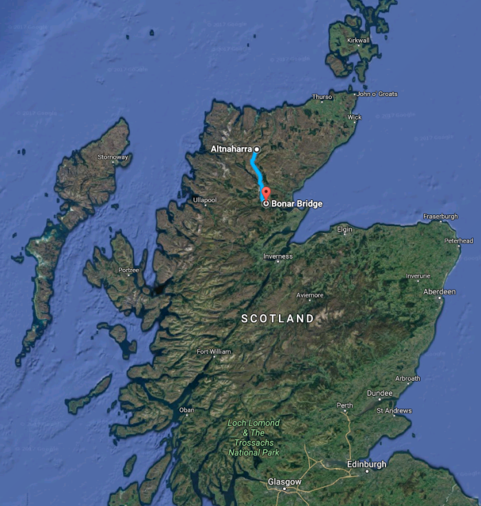 North-East-Scotland-weekender-map-Altnaharra-to-Bonar-Bridge