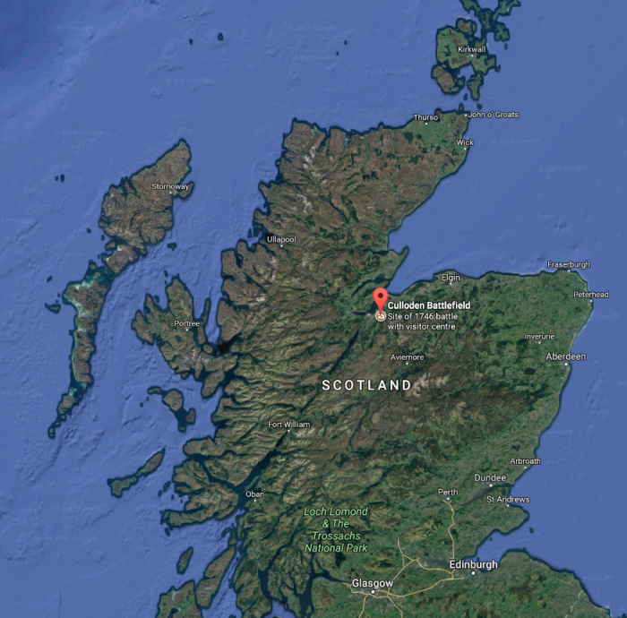 North-East-Scotland-weekender-map-Culloden-Battlefield