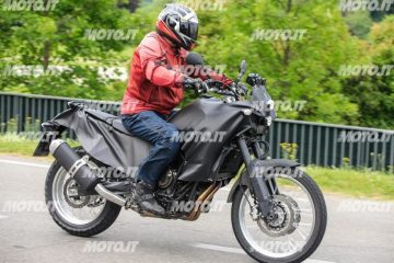 Spy shots of the Yamaha Tenere 700