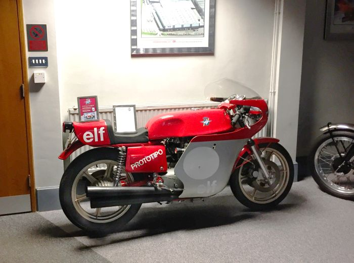 The stolen MV Augusta motorcycle