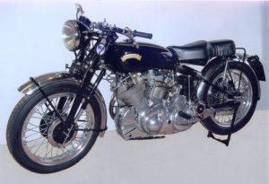 The stolen Vincent Rapide motorcycle
