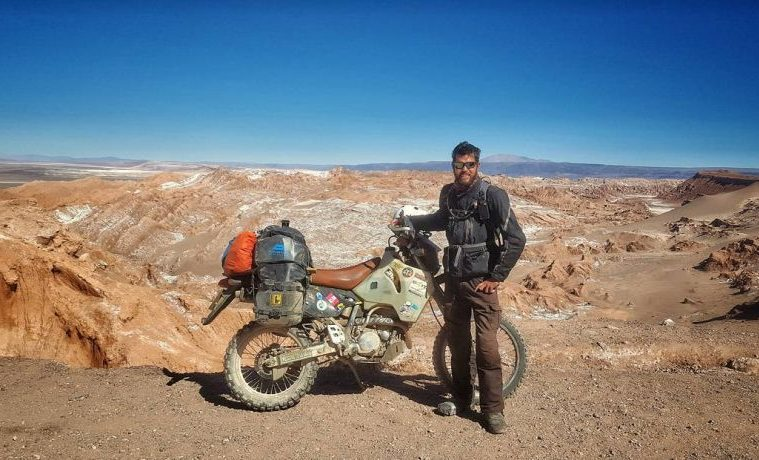 Former british soldier rides solo on epic round the world for Mitchell s fish market rochester