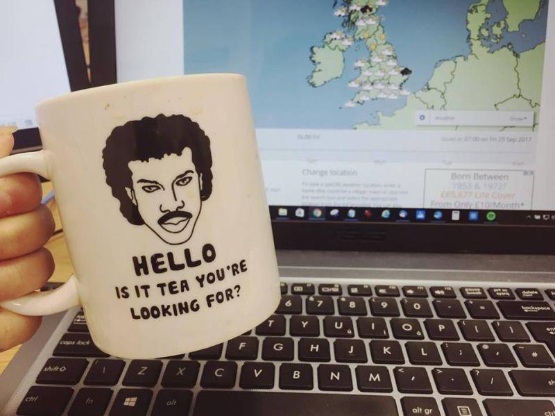 Novelty Lionel Richie mug