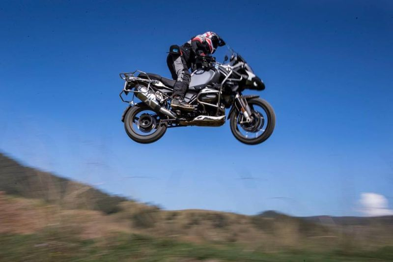 Jumping a BMW GS