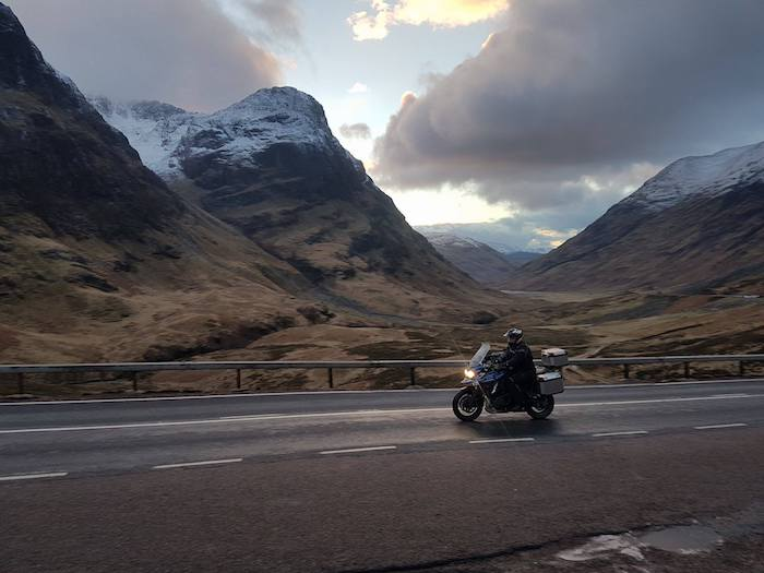 Riding in Glen Coe