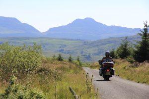 Harley Davidson in Snowdonia