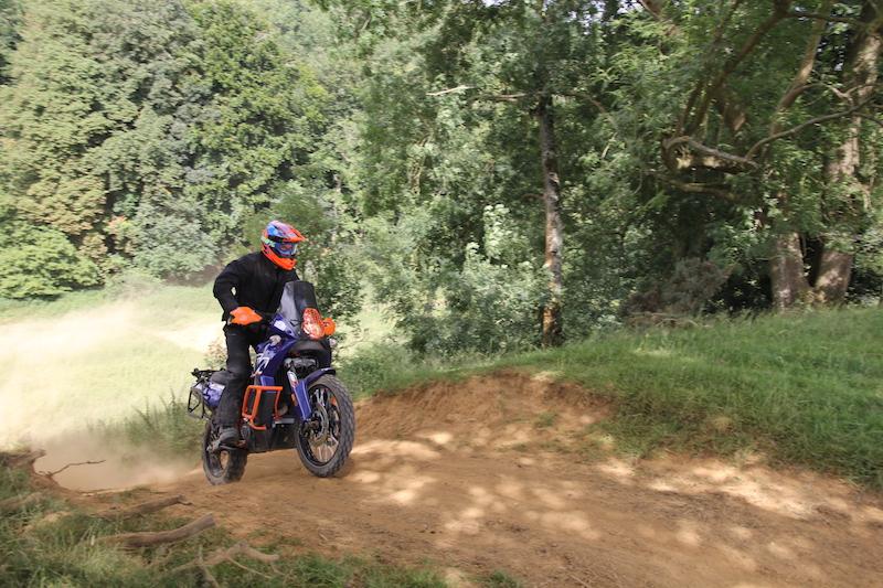 Jumping a KTM