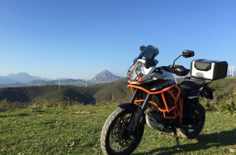 KTM by mountains
