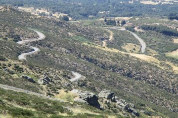 Mountain roads in Salamanca, Spain