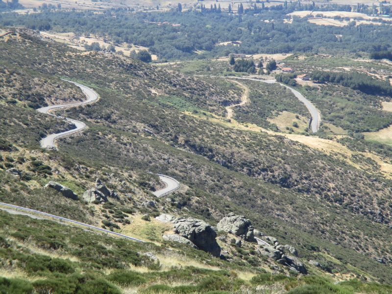 Mountain roads in Salamanca, Spain