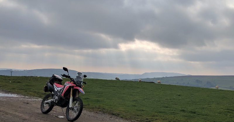 A moorland on the Trans Euro Trail