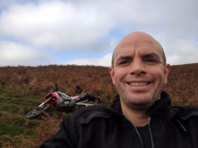 Biker selfie