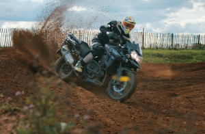 Martin Craven rides Triumph Tiger Explorer XCa challenging motocross track