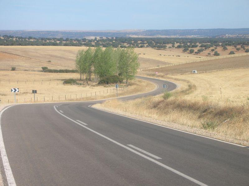 Salamanca mountain road Spain