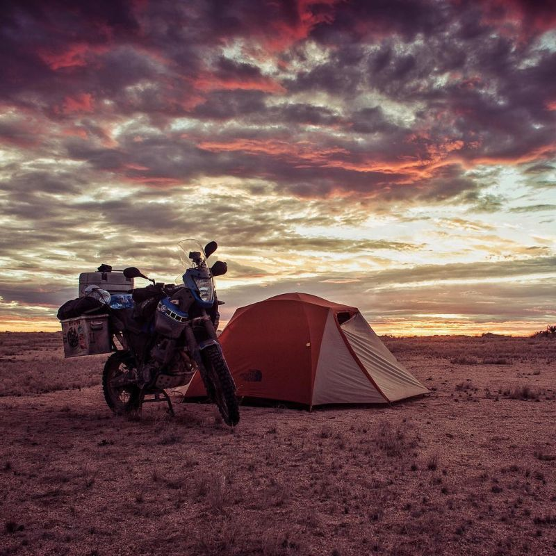 Wild camping in Namibia