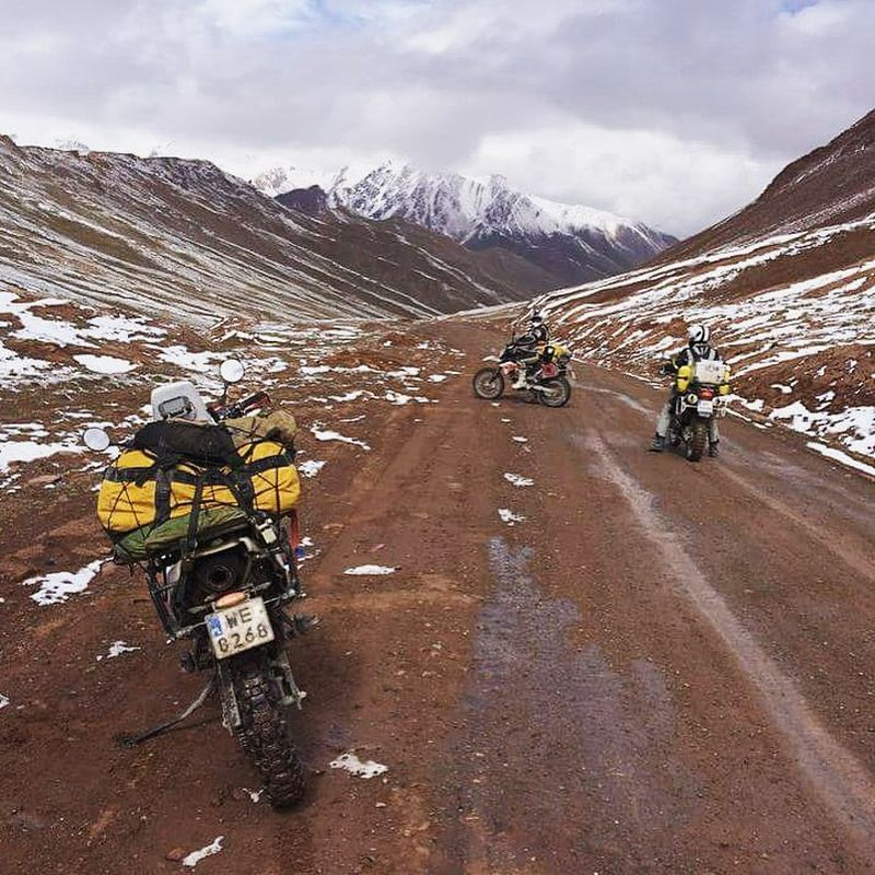 Motorcycling in Osh, Kyrgyzstan
