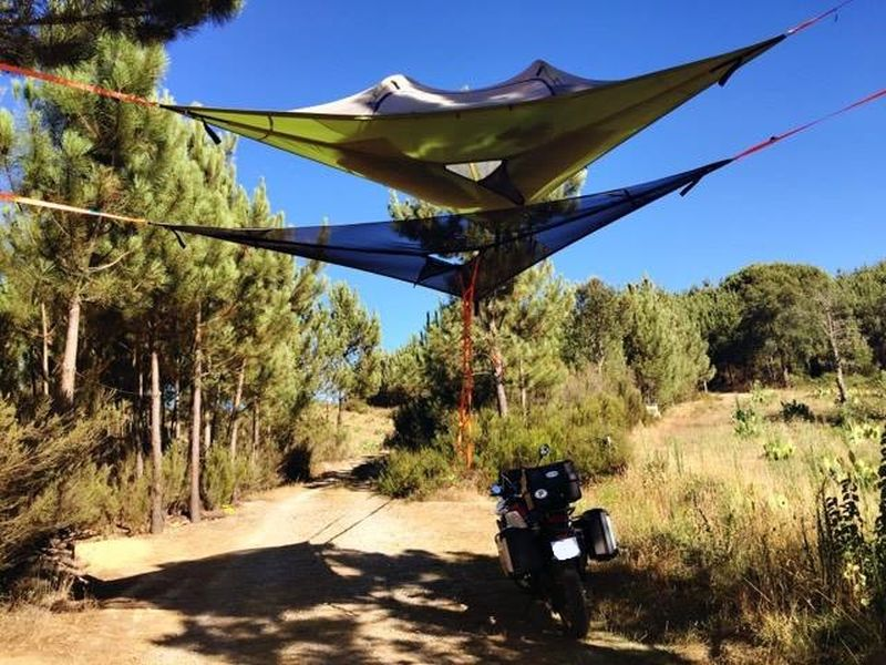 Motorcycling and wild camping in Cercal, Portugal
