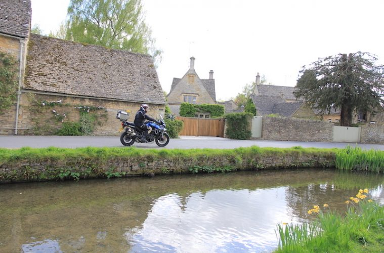 Motorcycle in Lower Slaughter