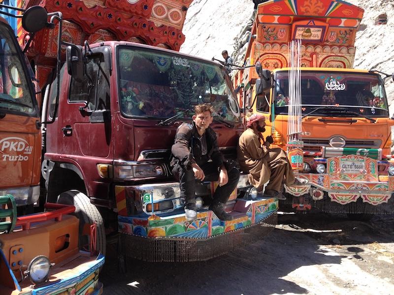 Dan Skeats on a bus