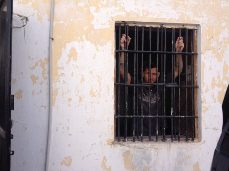 Dan Skeats behind prison bars
