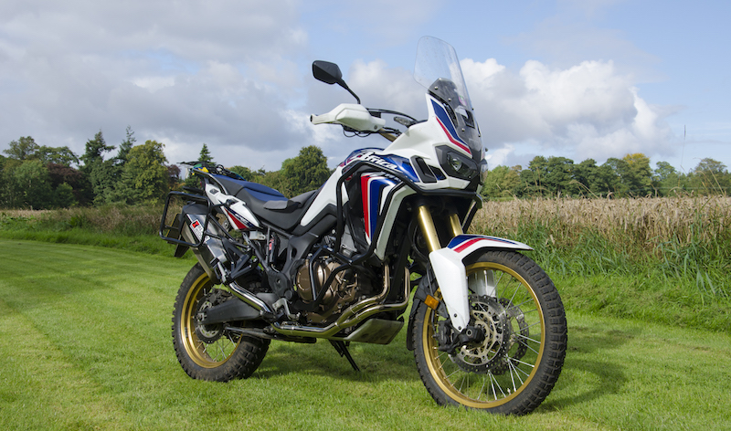 Honda motorcycle in field