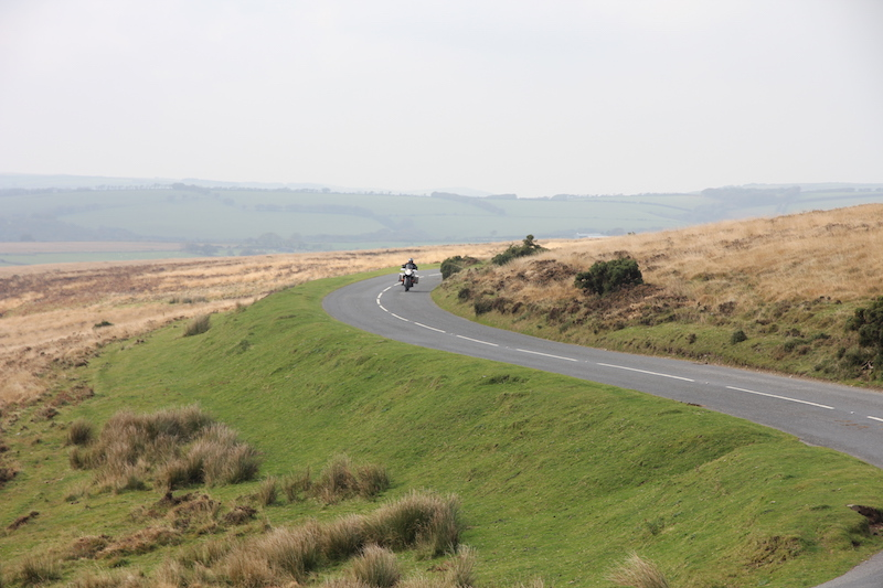 A road on the Two Moors Way in Exmoor