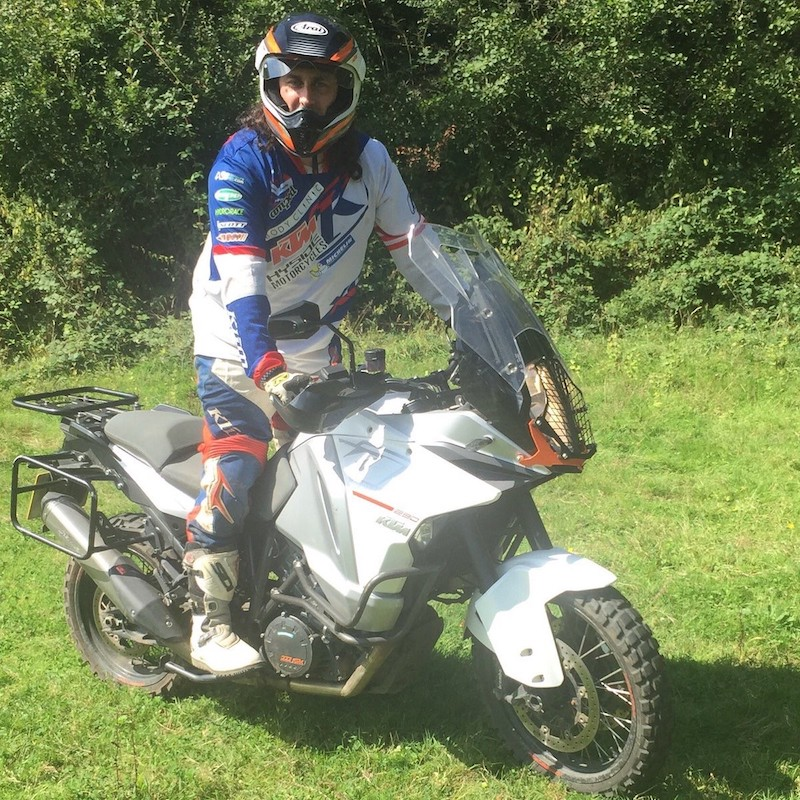 British comedian riding a KTM 1290 Super Adventure