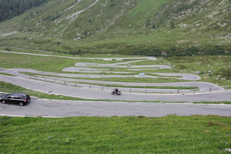 splugen pass switzerland and italy