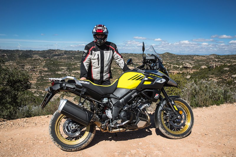 Alun Davies Adventure Bike Rier with Suzuki V-Strom 1000