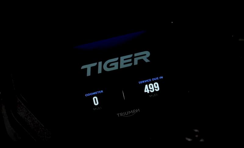 2018 Triumph Tiger display