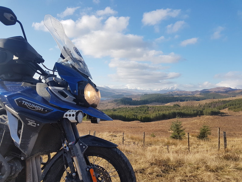 Triumph Explorer in Scotland