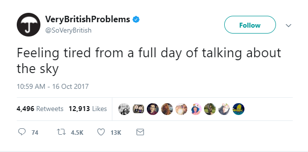 Funny tweet by Very British Problems