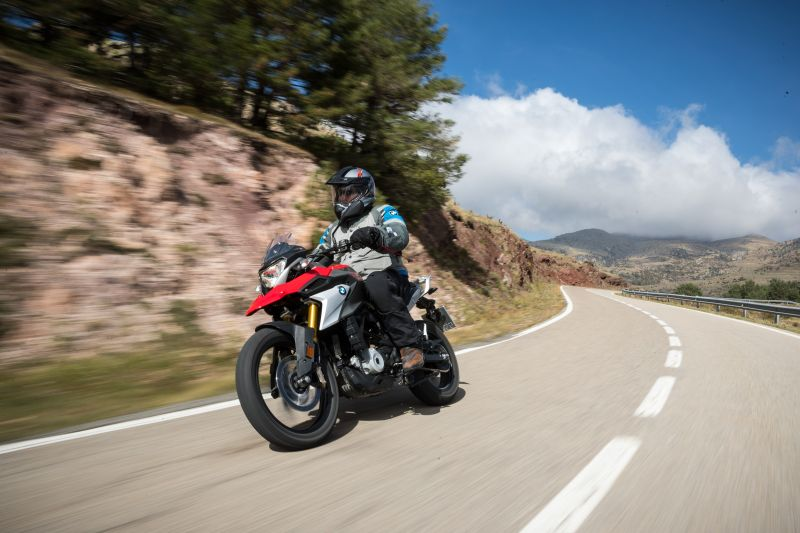 BMW 310 GS on road