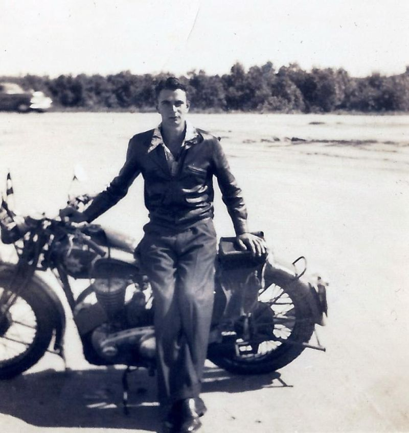 Vintage motorcycling image